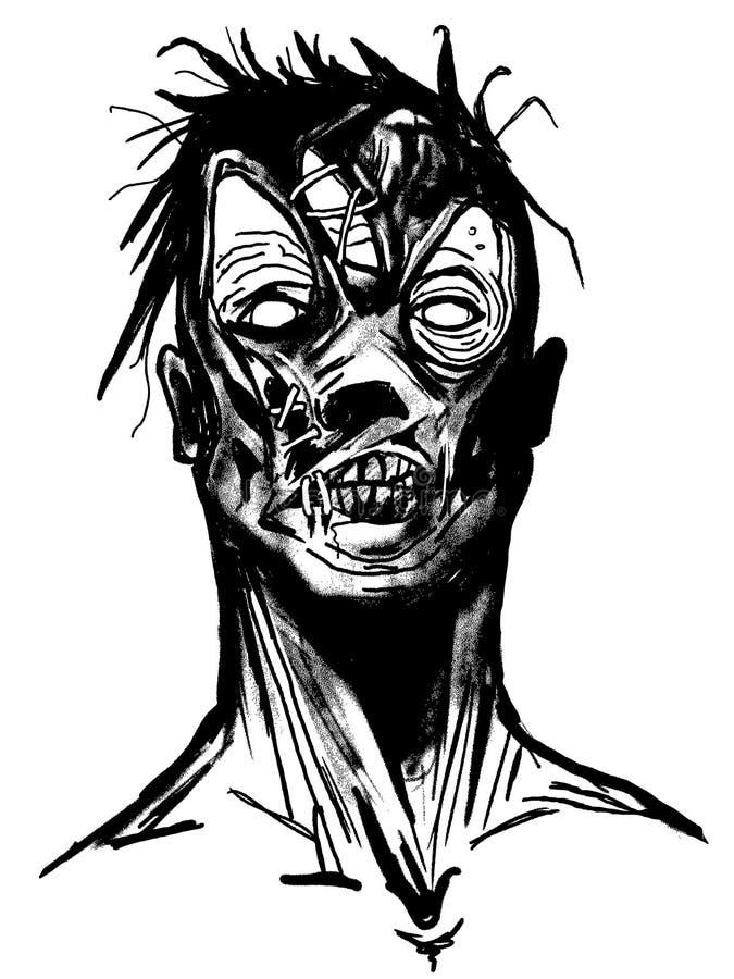 Vetor art. escuro. ilustração stock