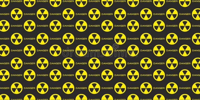 Vetor atômico nuclear do fundo do perigo radioativo da radiação ilustração royalty free