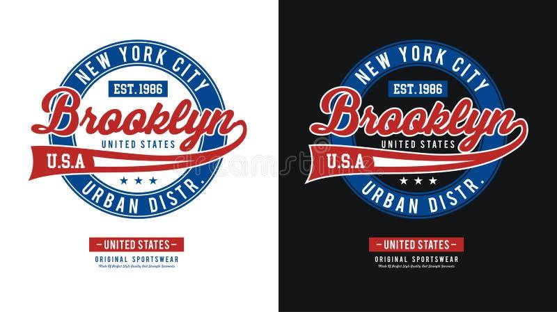 Vetor atlético da imagem da BrooklynT-camisa ilustração royalty free