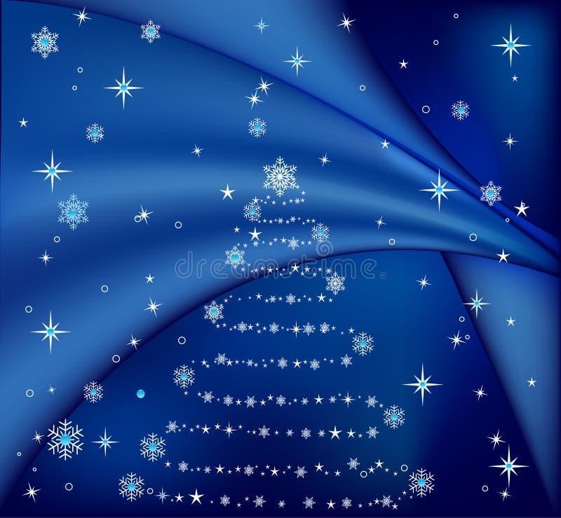 Vetor azul da árvore de Natal ilustração do vetor