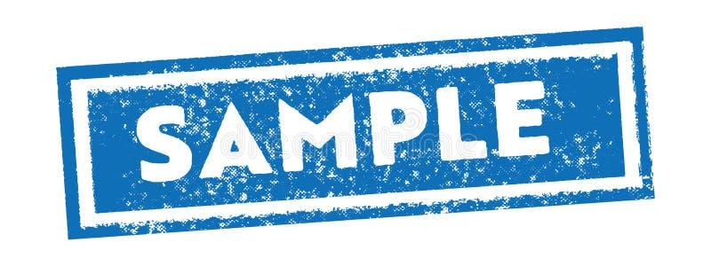 Vetor azul da bandeira da etiqueta do selo do vintage da amostra ilustração royalty free