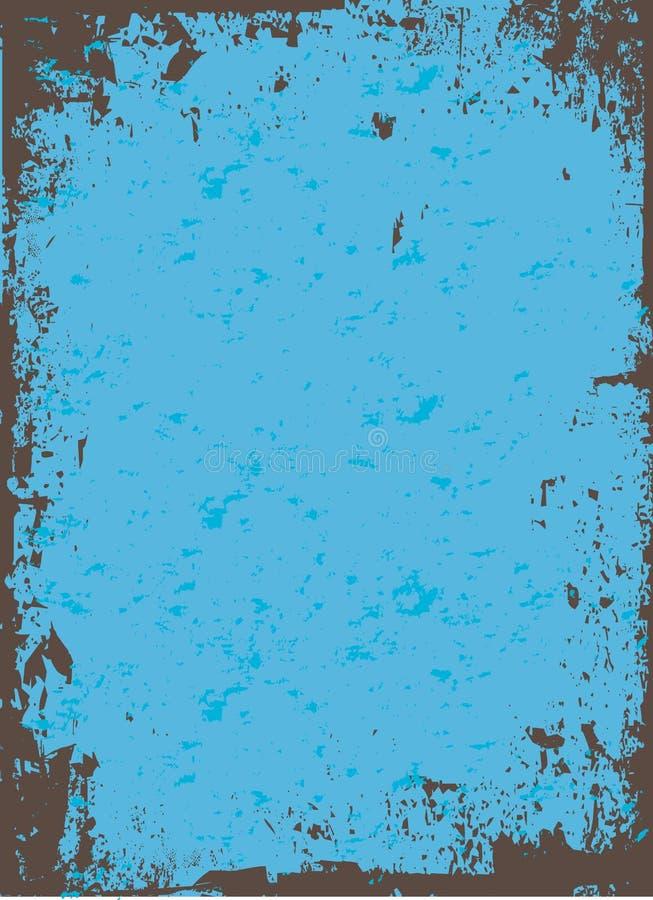 Vetor azul de Grunge ilustração stock