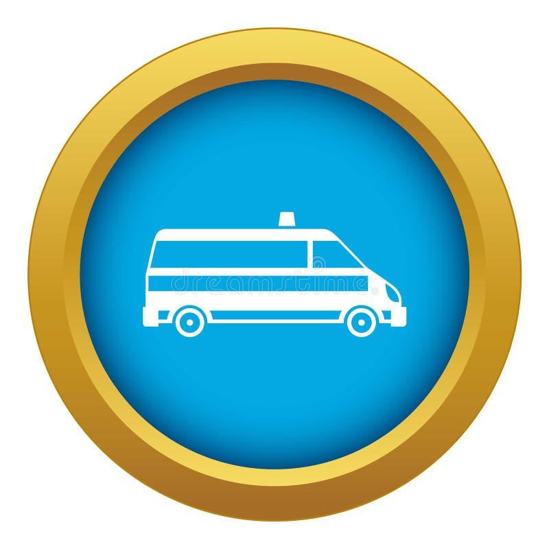 Vetor azul do ícone do carro da ambulância isolado ilustração do vetor