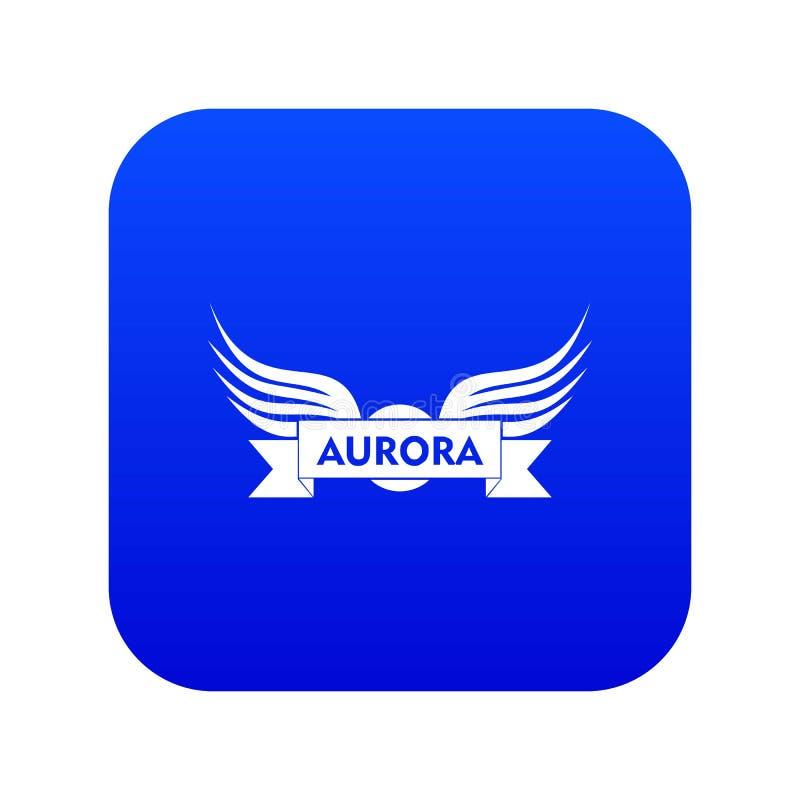 Vetor azul do ícone da asa da Aurora ilustração stock