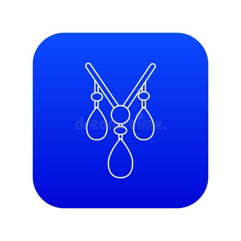 Vetor azul do ícone da colar ilustração stock