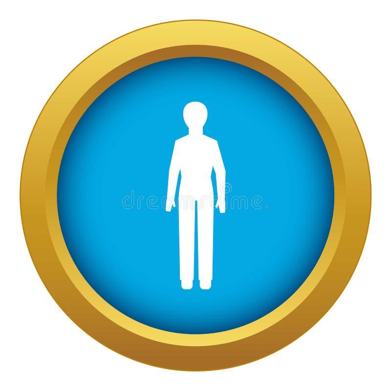 Vetor azul do ícone da construção do parlamento isolado ilustração stock