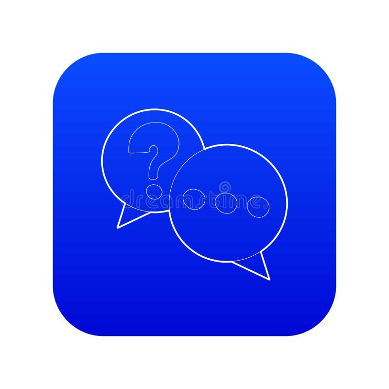 Vetor azul do ícone da conversa ilustração do vetor