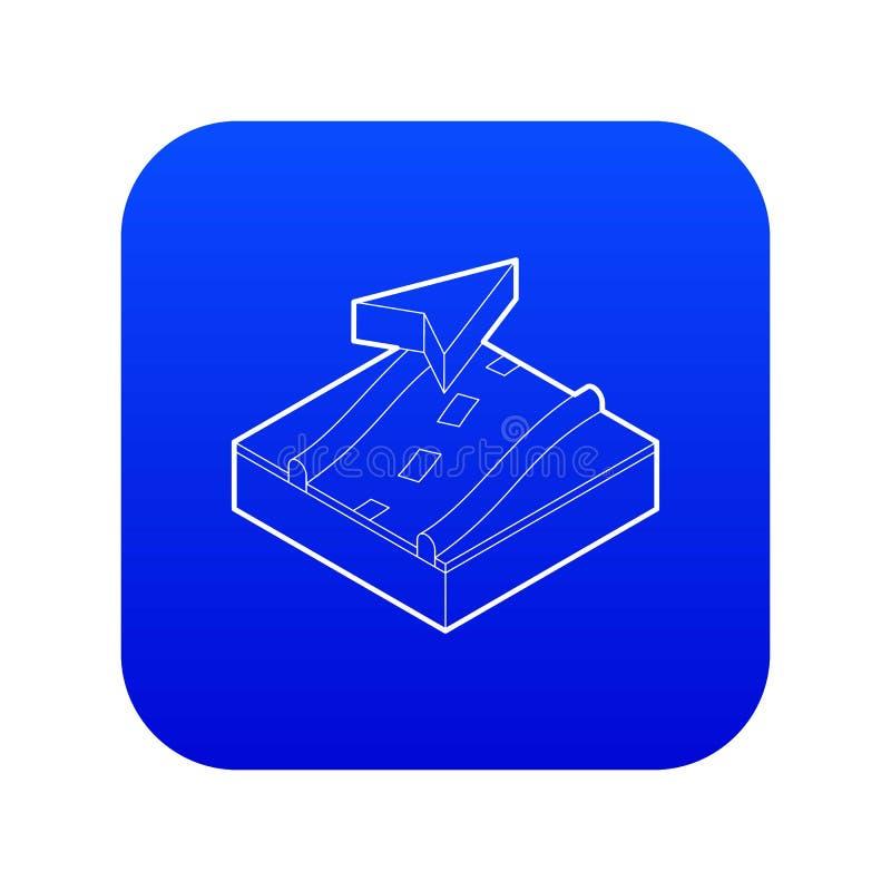 Vetor azul do ícone da navegação ilustração stock