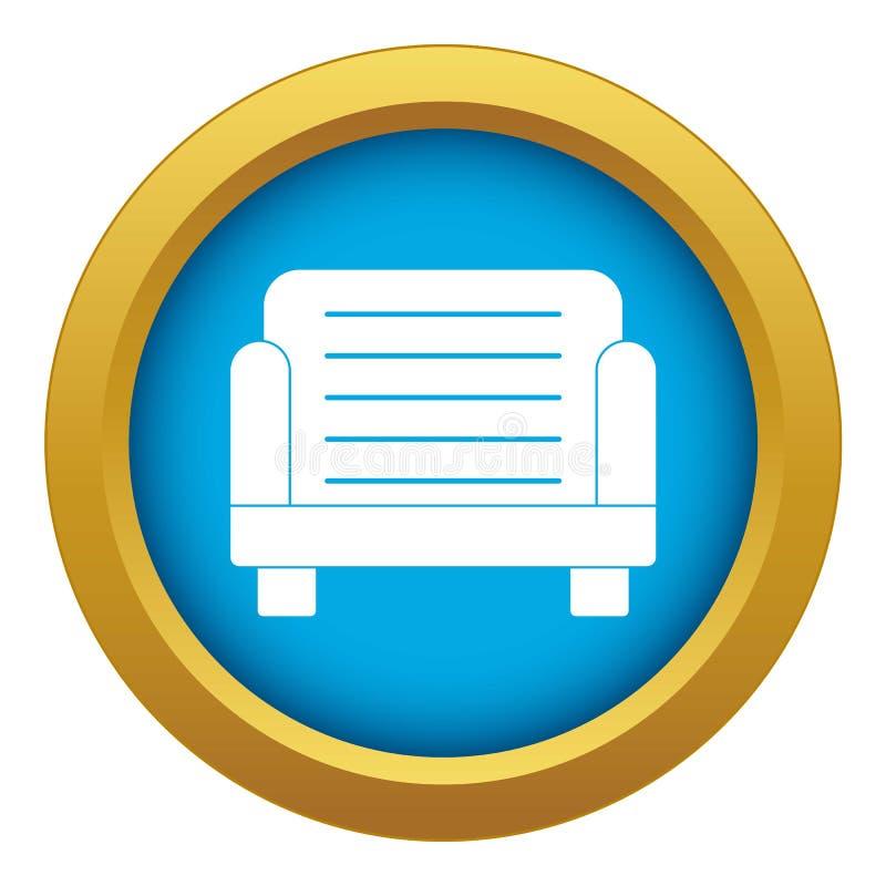 Vetor azul do ícone da poltrona isolado ilustração royalty free