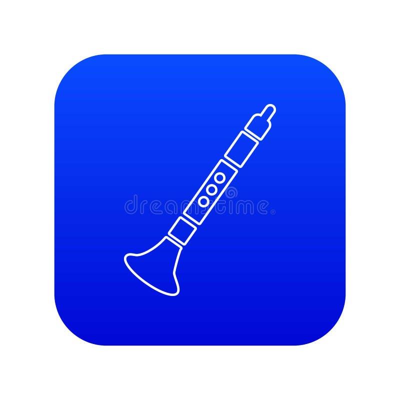 Vetor azul do ícone da trombeta ilustração royalty free