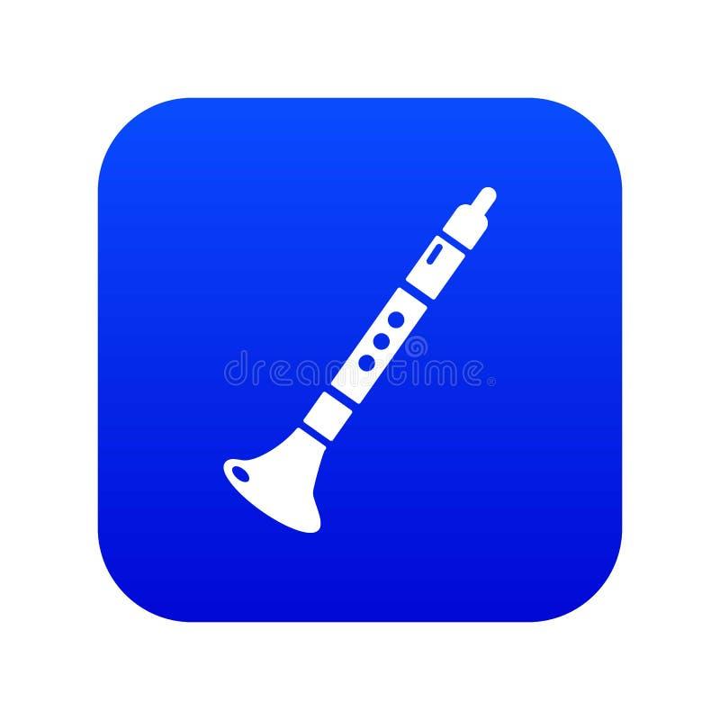 Vetor azul do ícone da trombeta ilustração stock