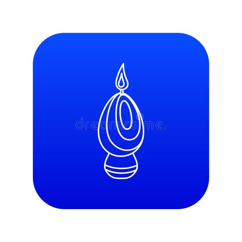 Vetor azul do ícone da vela do ovo ilustração stock