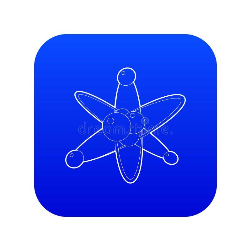 Vetor azul do ícone das moléculas ilustração stock