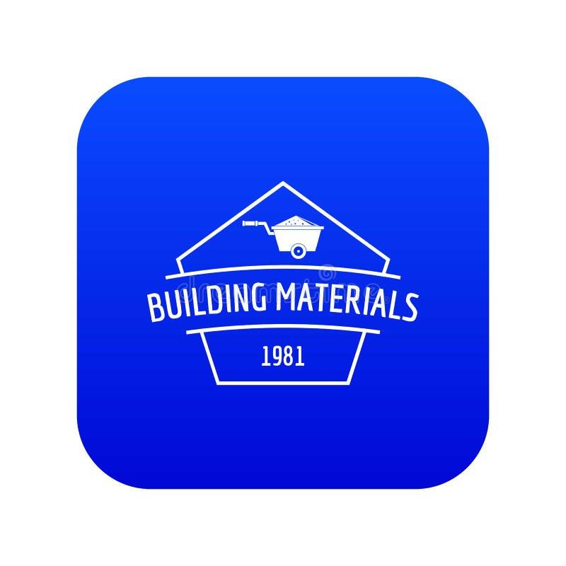 Vetor azul do ícone dos materiais de construção ilustração stock
