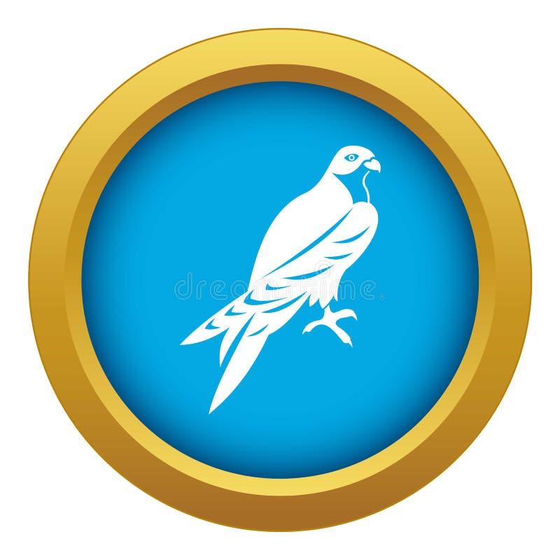 Vetor azul do ícone do falcão isolado ilustração do vetor