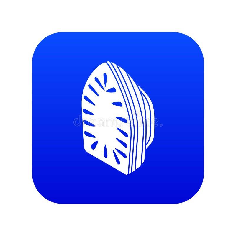 Vetor azul do ícone do ferro ilustração royalty free