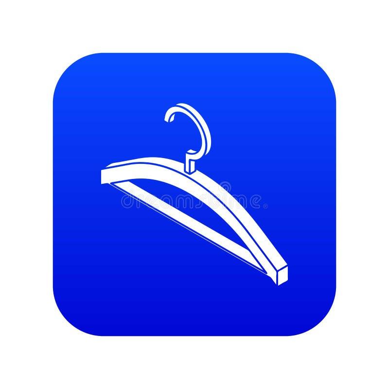 Vetor azul do ícone do gancho de roupa ilustração royalty free