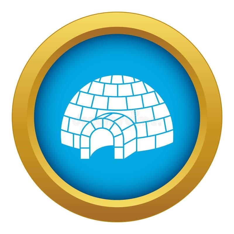 Vetor azul do ícone do iglu isolado ilustração do vetor