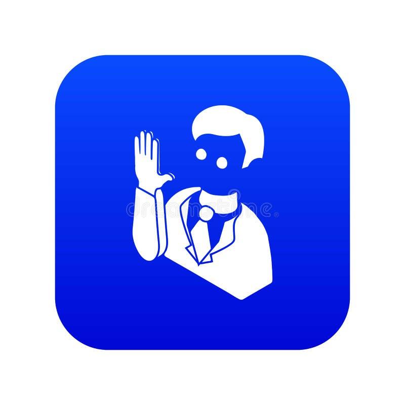 Vetor azul do ícone do juramento do candidato da eleição ilustração do vetor