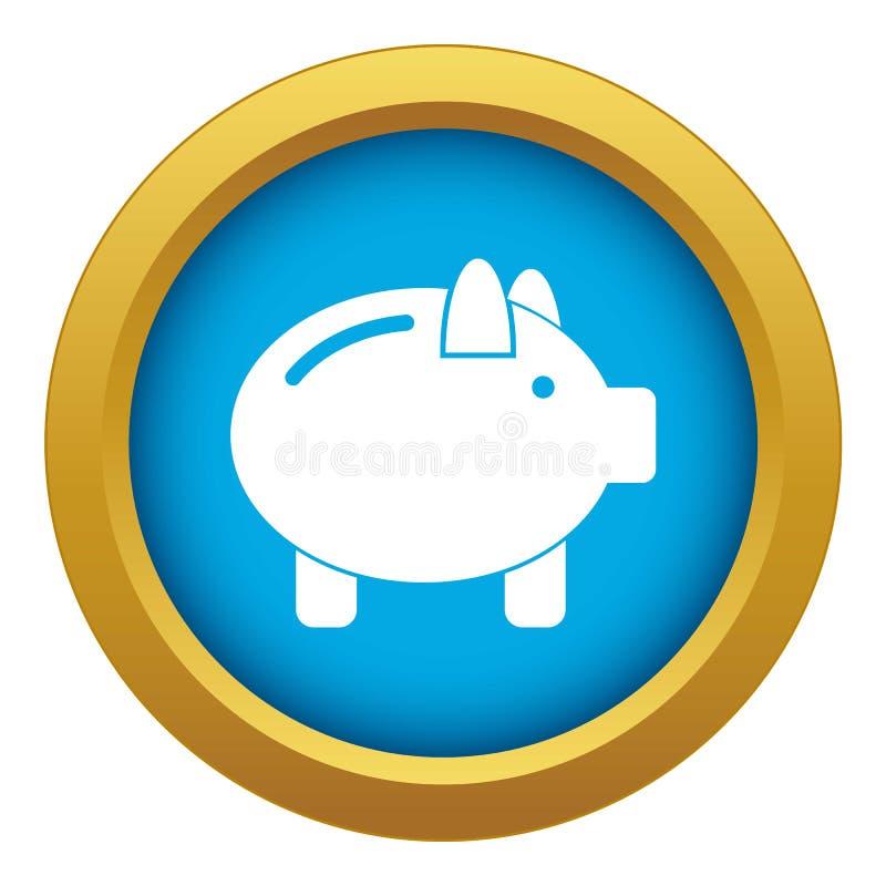Vetor azul do ícone do mealheiro isolado ilustração do vetor