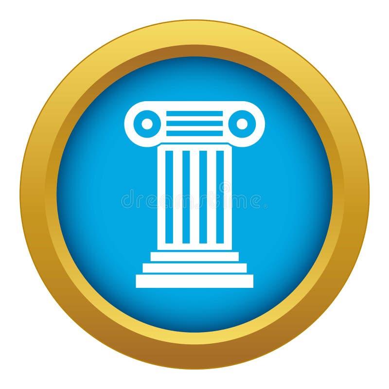 Vetor azul do ícone romano da coluna isolado ilustração do vetor