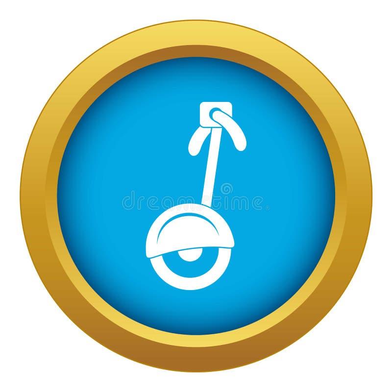 Vetor azul do ícone do Unicycle isolado ilustração do vetor