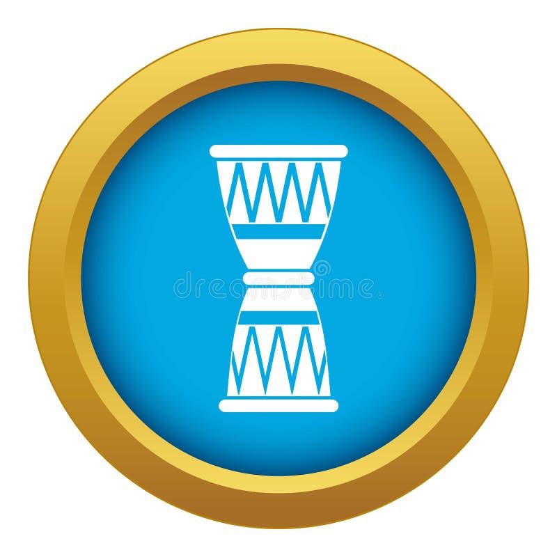 Vetor azul do ?cone africano do cilindro isolado ilustração stock