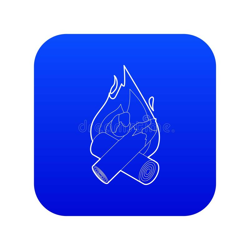 Vetor azul do ?cone da fogueira ilustração royalty free