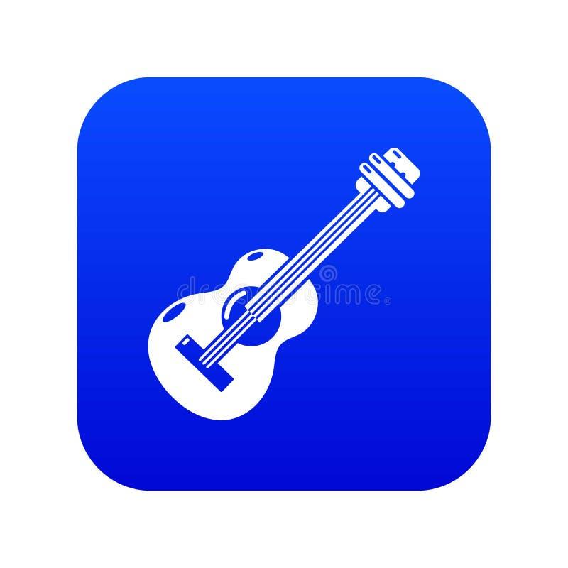 Vetor azul do ?cone da guitarra ilustração royalty free