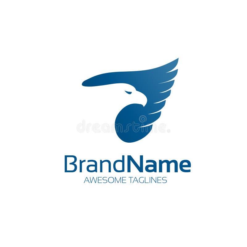 Vetor azul do logotipo da águia ilustração stock