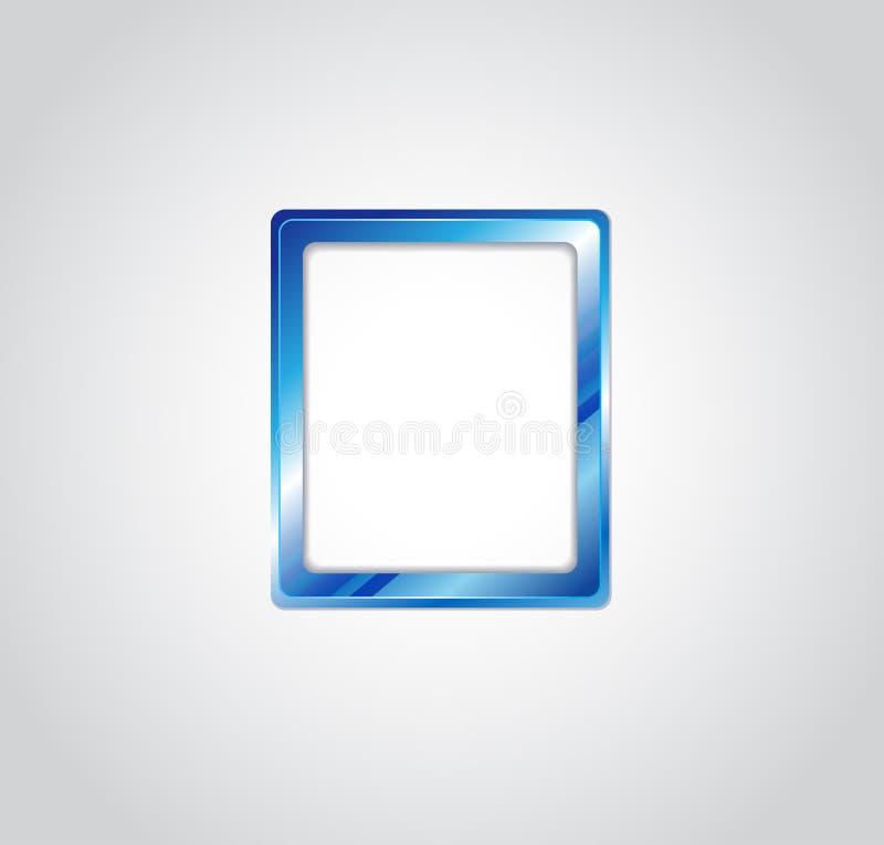 Vetor azul do quadro da foto ilustração stock