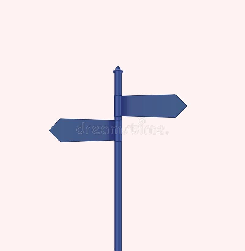 Vetor azul do sinal imagens de stock royalty free
