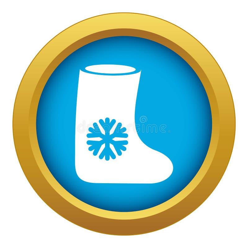 Vetor azul sentido do ícone das botas isolado ilustração royalty free
