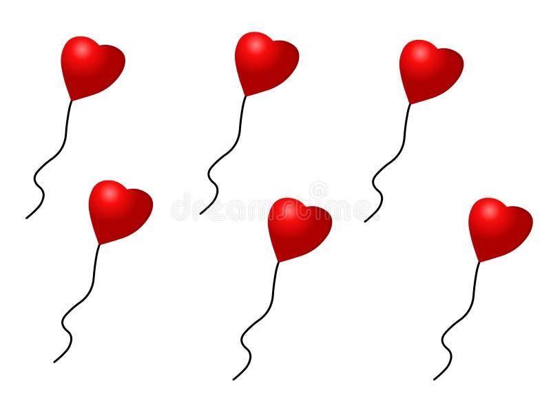 Vetor - balões do amor imagem de stock