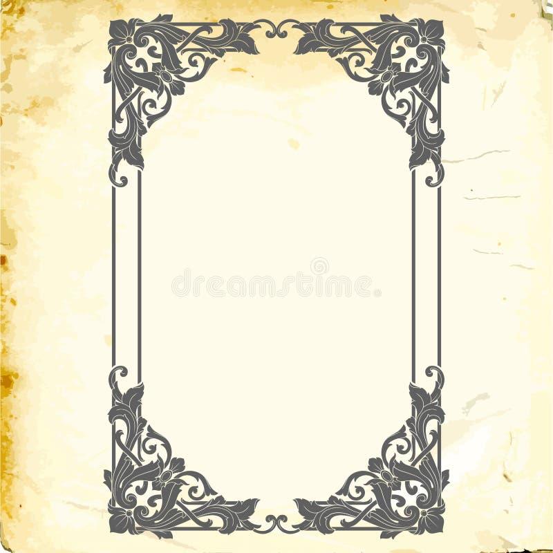 Vetor barroco de elementos do vintage para o projeto ilustração stock