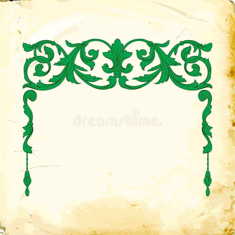 Vetor barroco de elementos do vintage para o projeto ilustração do vetor
