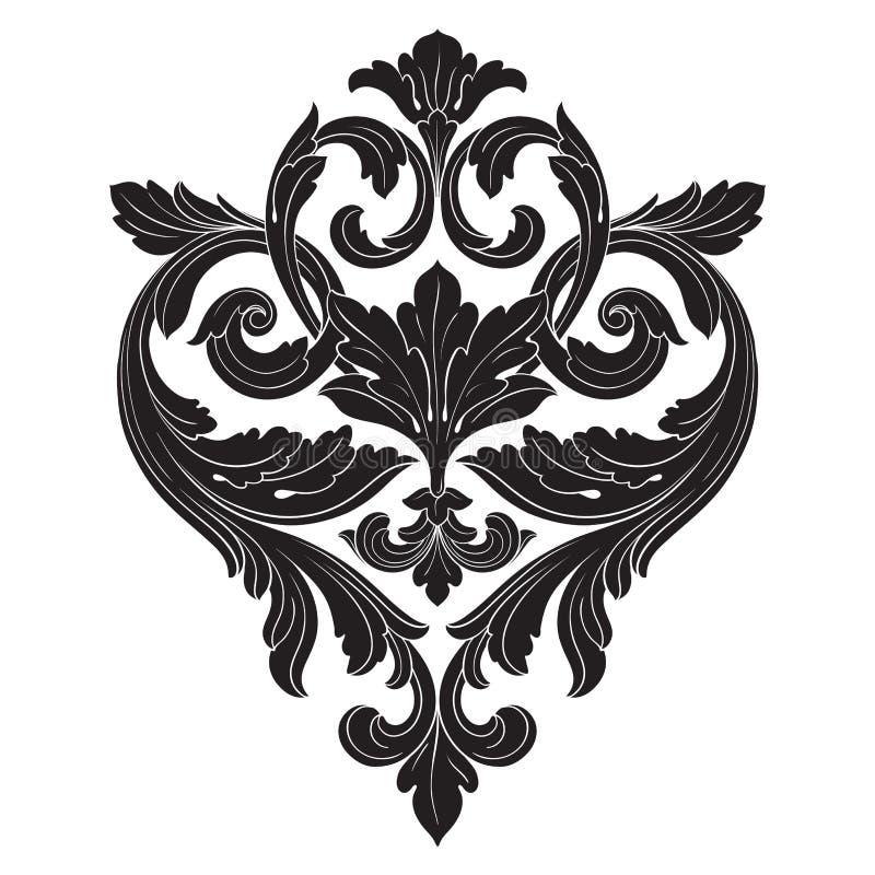 Vetor barroco de elementos do vintage para o projeto ilustração royalty free
