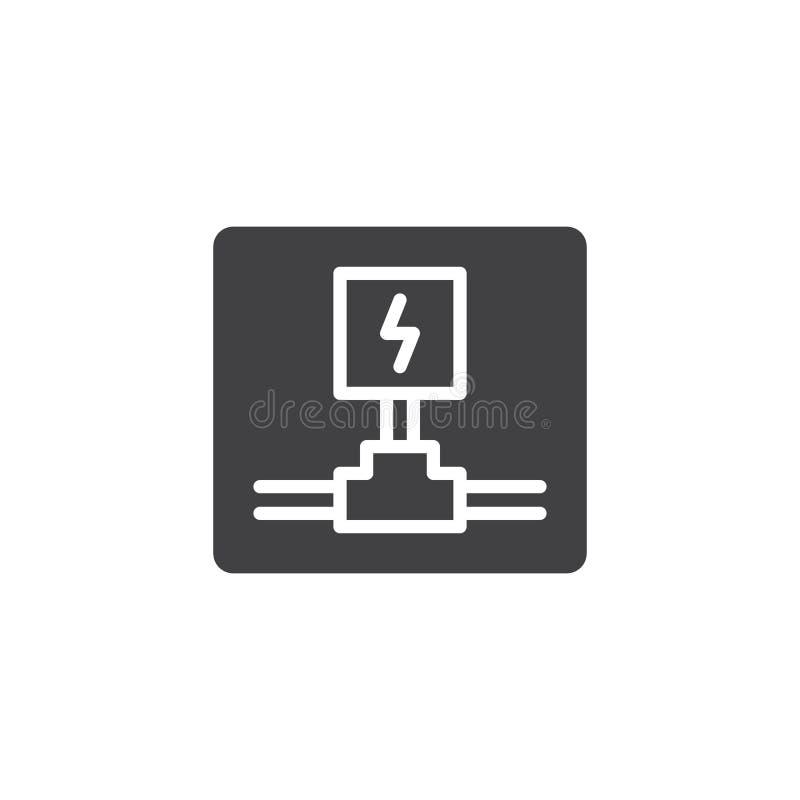 Vetor bonde do ícone da fiação ilustração stock