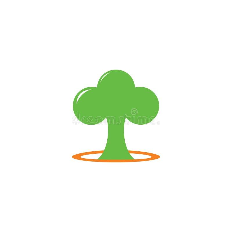Vetor bonito do símbolo da árvore ilustração stock