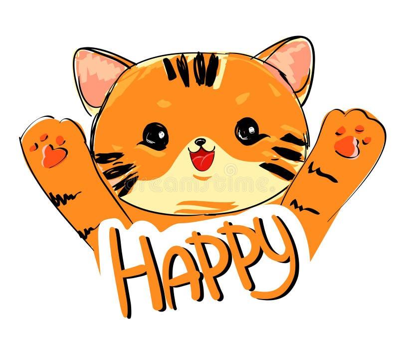 Download Vetor bonito do tigre ilustração do vetor. Ilustração de ilustração - 107527539