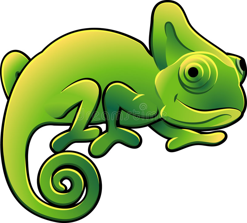 Vetor bonito Illustra do Chameleon ilustração royalty free
