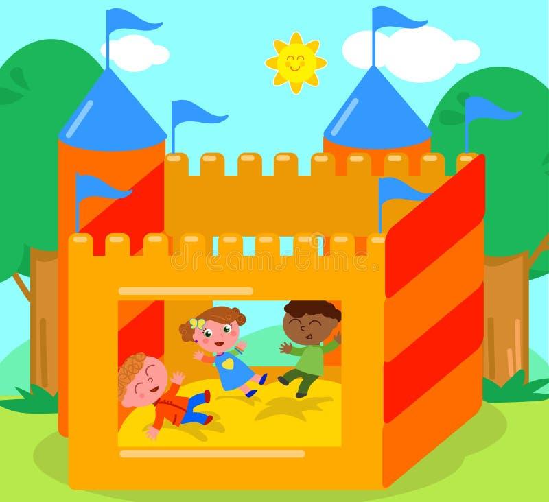 Vetor Bouncy do castelo ilustração royalty free