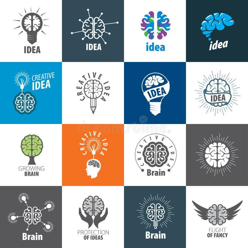 Vetor Brain Logo ilustração royalty free