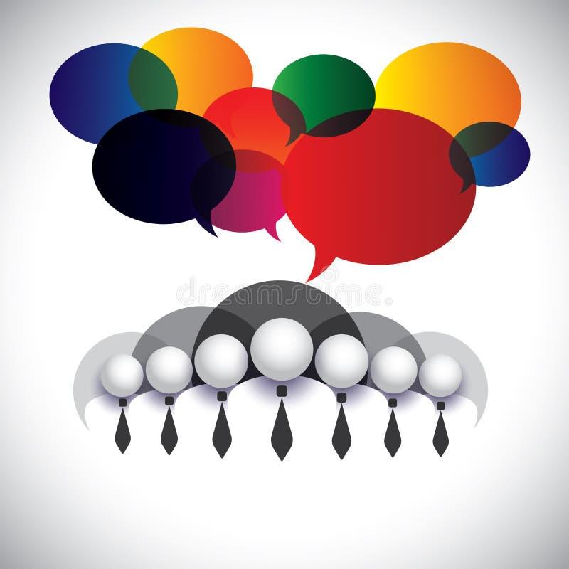 Vetor branco de uma comunicação dos empregados do colar ilustração do vetor
