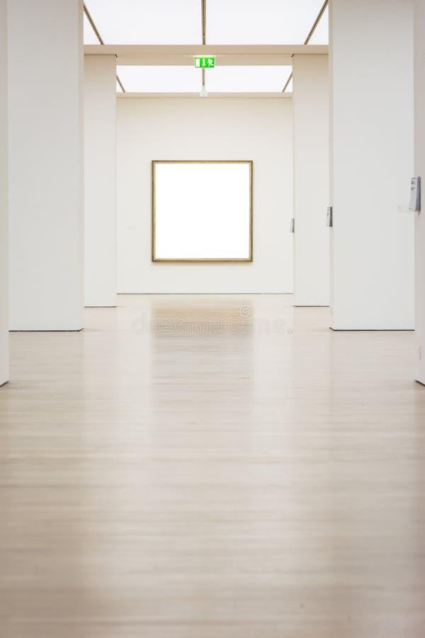 Vetor branco isolado de Art Museum Frame Wall Clipping trajeto moderno imagem de stock royalty free