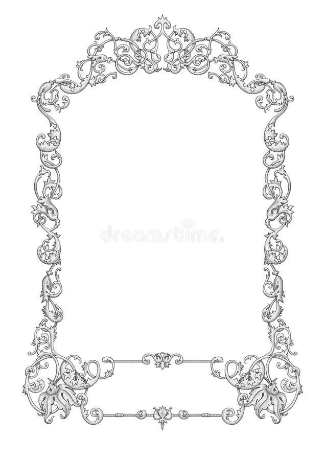 Vetor a céu aberto do frame ilustração do vetor