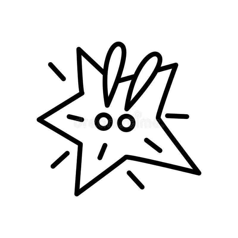 Vetor cômico do ícone isolado no fundo branco, sinal cômico, lin ilustração do vetor