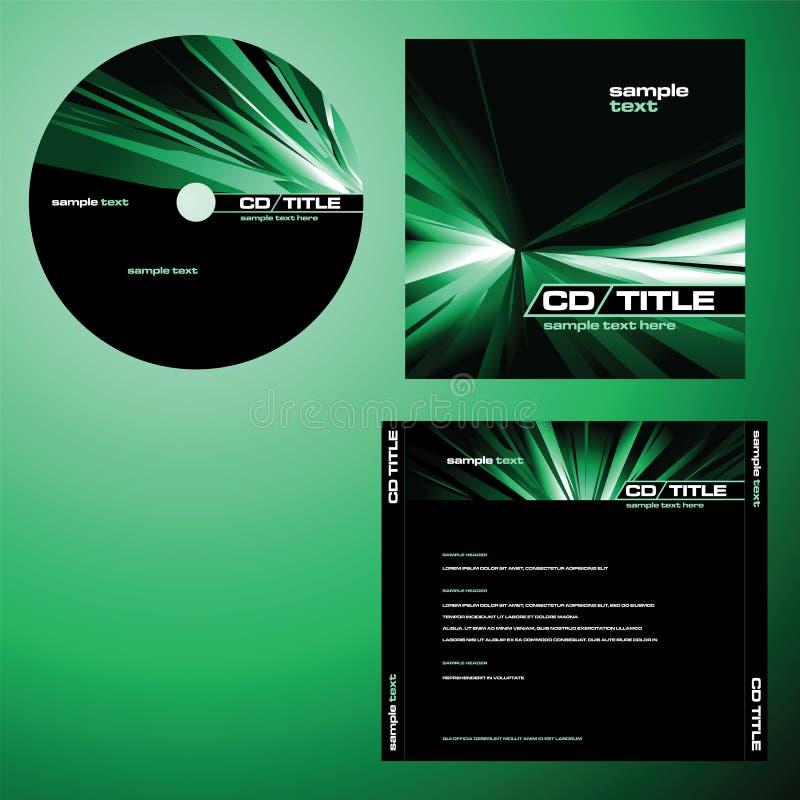 Vetor CD do projeto da tampa ilustração do vetor