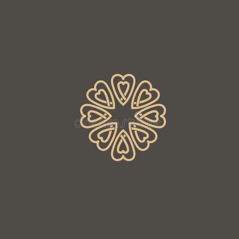 Vetor celta do nó Símbolo decorativo da tatuagem Emblema retro do círculo luxuoso Logotipo escocês tradicional do vetor ilustração stock