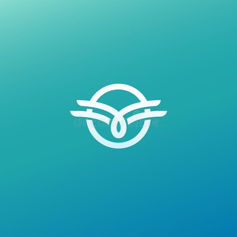Vetor celta do nó Símbolo decorativo da tatuagem Emblema retro do círculo luxuoso Logotipo escocês tradicional do vetor Linha sim ilustração royalty free